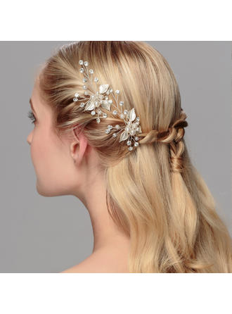 Hairpins Wedding/Special Occasion/Party Rhinestone/Alloy/Imitation Pearls Charming/Leaves Shaped Color & Style representation may vary by monitor Headpieces