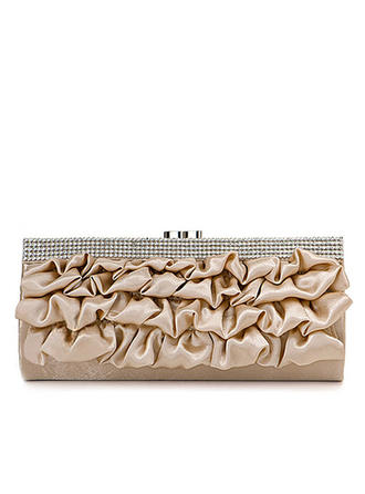Clutches Wedding/Ceremony & Party Satin Clip Closure Gorgeous Clutches & Evening Bags