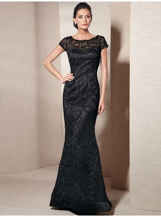 High Neck Floor-Length Mother of the Bride Dresses With Lace