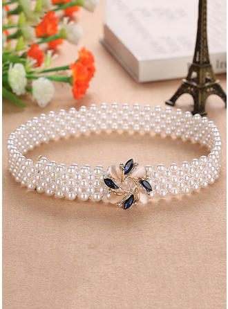Women Imitation Pearls Belt Elegant Sashes & Belts