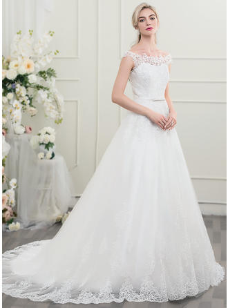 Magnificent Tulle Lace Wedding Dresses With Ball-Gown Bow(s)