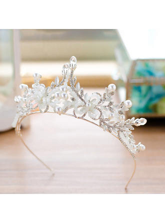 Alloy Tiaras With Venetian Pearl/Czech Stones (Sold in single piece) (042144622)