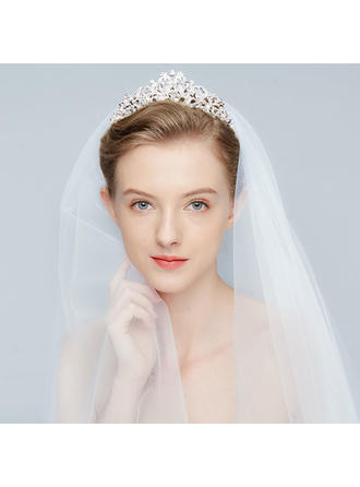 Gorgeous Alloy Tiaras With Rhinestone/Venetian Pearl/Crystal (Sold in single piece)