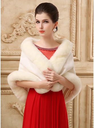 Wrap Wedding Sleeveless Ivory Red Wraps