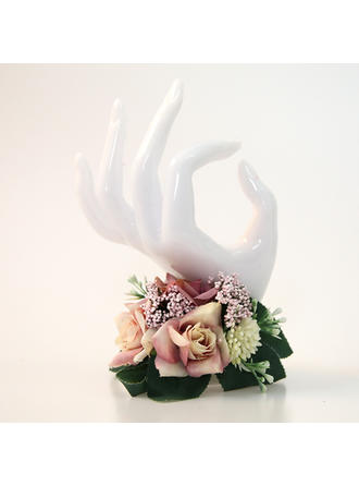 "Wrist Corsage Hand-tied Wedding Satin 1.18""(Approx.3cm) Wedding Flowers"