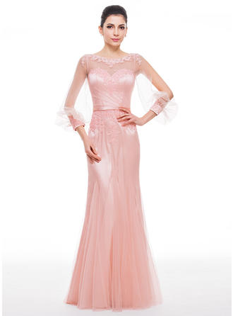 Stunning Tulle Trumpet/Mermaid Zipper Up Evening Dresses