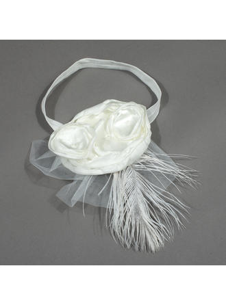 "Headbands Wedding/Special Occasion/Party Satin/Tulle 5.53""(Approx.14cm) 6.69""(Approx.17cm) Headpieces"