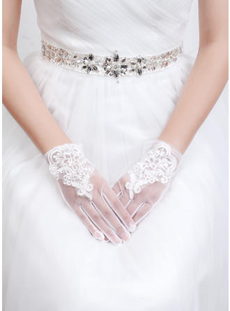 Tulle/Lace Ladies' Gloves Wrist Length Bridal Gloves Fingertips Gloves