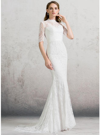 Lace Sheath/Column Sexy Wedding Dresses