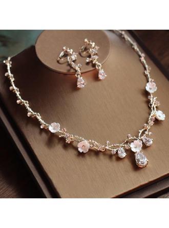 Hermoso Aleación/Diamantes de imitación/Circón Señoras' Sistemas de la joyería