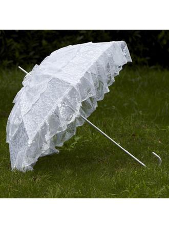 Wedding Umbrellas Bridal Parasols Women's Wedding Hook Handle Wedding Umbrellas