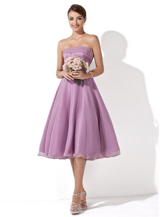 A-Line/Princess Knee-Length Chiffon Knee-Length Bridesmaid Dresses