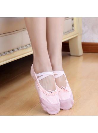 Kids' Ballet Flats Canvas Dance Shoes