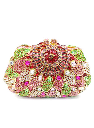 Clutches/Luxury Clutches Wedding/Ceremony & Party Crystal/ Rhinestone/Alloy Kiss lock closure Gorgeous Clutches & Evening Bags