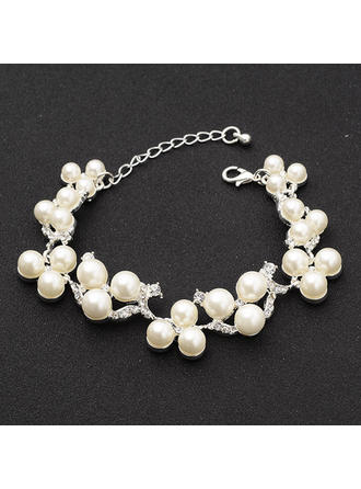 "Bracelets Alloy/Rhinestones/Imitation Pearls Ladies' Gorgeous 0.71""(Approx.1.8cm) Wedding & Party Jewelry"