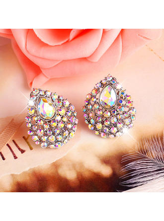 Earrings Alloy/Rhinestones Earclip Ladies' Pretty Wedding & Party Jewelry