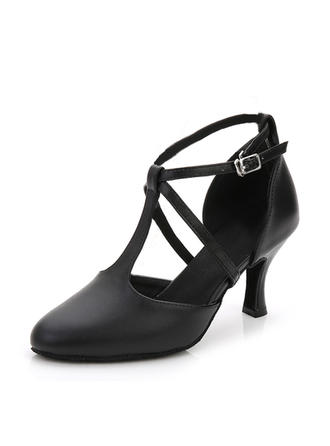 Women's Ballroom Heels Leatherette Dance Shoes (053183705)
