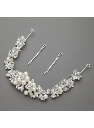 "Headbands Wedding/Special Occasion/Party Alloy/Imitation Pearls 11.02""(Approx.28cm) 1.30 ""(Approx.3.3cm) Headpieces"