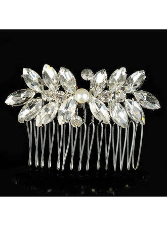 "Combs & Barrettes Wedding/Special Occasion Alloy/Imitation Pearls 2.56""(Approx.6.5cm) 1.97""(Approx.5cm) Headpieces"