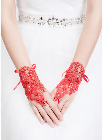 Tulle/Lace Ladies' Gloves Wrist Length Party/Fashion Gloves/Bridal Gloves Fingerless Gloves
