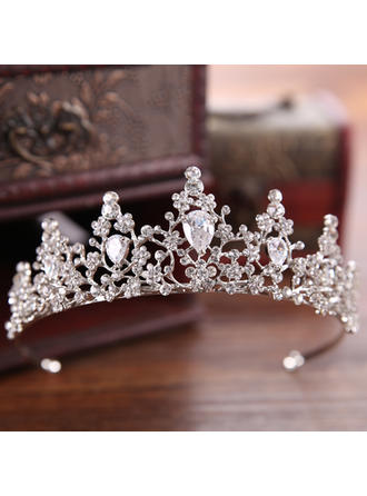 Ladies Beautiful Rhinestone/Alloy Tiaras With Rhinestone (Sold in single piece) (042152680)