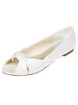 Women's Flats Flat Heel Satin With Others Wedding Shoes