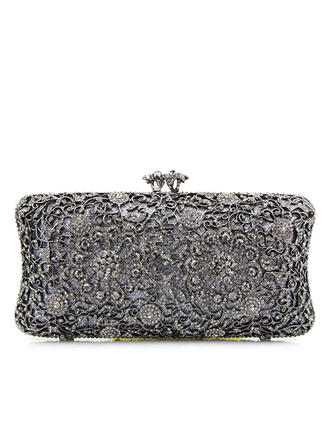 Clutches Wedding/Ceremony & Party Alloy Clip Closure Elegant Clutches & Evening Bags (012188173)