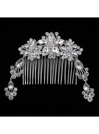 "Combs & Barrettes Wedding/Special Occasion Rhinestone/Alloy 6.89""(Approx.17.5cm) 2.76""(Approx.7cm) Headpieces"