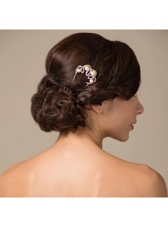 "Hairpins Wedding/Party Rhinestone/Alloy 3.94""(Approx.10cm) 2.24""(Approx.5.7cm) Headpieces"
