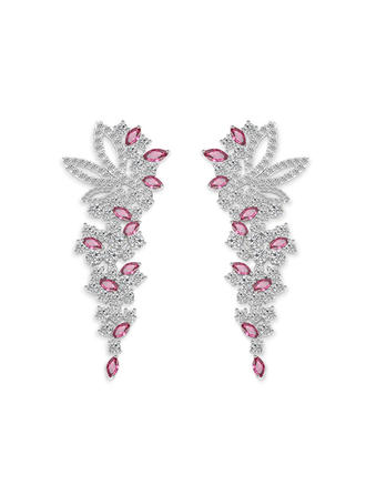 Earrings Zircon Pierced Ladies' Classic Wedding & Party Jewelry