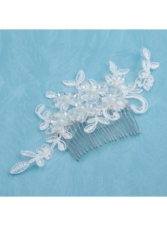 "Combs & Barrettes Wedding/Special Occasion/Casual Alloy/Imitation Pearls/Lace 5.91""(Approx.15cm) 3.15""(Approx.8cm) Headpieces"