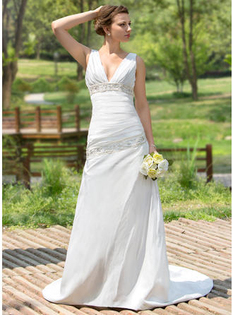 Magnificent Taffeta Sweetheart Sleeveless Wedding Dresses