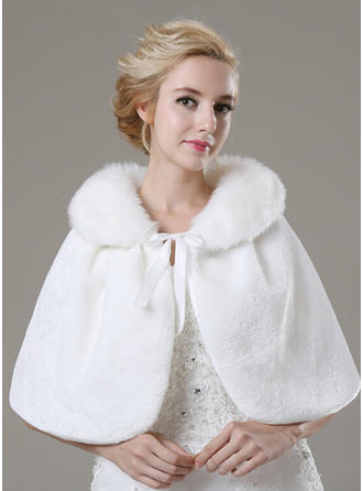 Shawl Fashion Faux Fur Other Colors Wraps