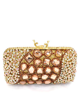 Clutches/Luxury Clutches Wedding/Ceremony & Party Crystal/ Rhinestone/Alloy Magnetic Closure Elegant Clutches & Evening Bags