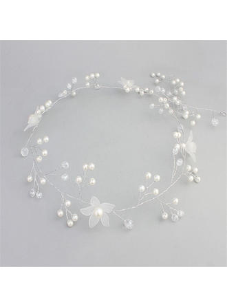 "Headbands Wedding/Special Occasion/Casual/Outdoor/Party/Art photography Crystal/Imitation Pearls/Frosted flower 13.78""(Approx.35cm) 1.97""(Approx.5cm) Headpieces"