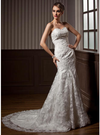 Sweetheart General Plus - Trumpet/Mermaid Lace Wedding Dresses