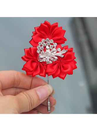 "Boutonniere Free-Form Wedding/Party Satin 2.76"" (Approx.7cm) Wedding Flowers"