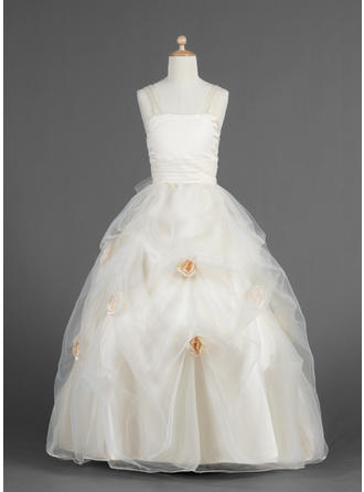 Sweetheart Ball Gown Flower Girl Dresses Flower(s)/Pick Up Skirt Sleeveless Floor-length