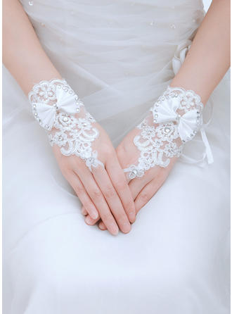 Tulle/Lace Ladies' Gloves Wrist Length Bridal Gloves Fingerless Gloves
