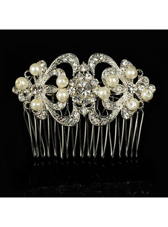 "Combs & Barrettes Wedding/Special Occasion Alloy/Imitation Pearls 3.94""(Approx.10cm) 2.36""(Approx.6cm) Headpieces"
