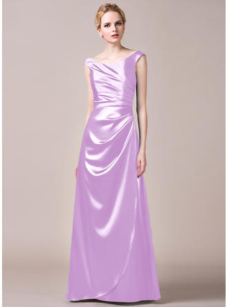 Bridesmaid Dresses Off-the-Shoulder A-Line/Princess Sleeveless Floor-Length