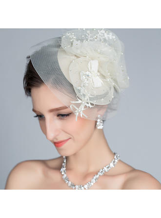 Speciale Strass/Di faux perla/Seta artificiale Fascinators