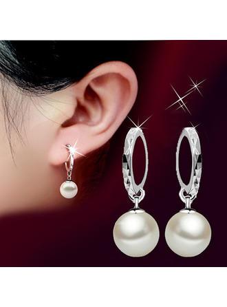 Elegant Kobber med Imiteret Pearl Ladies ' øreringe