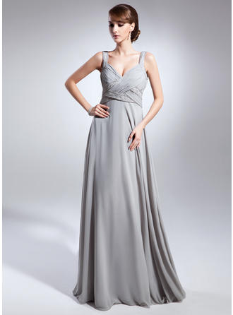 Empire V-neck Chiffon Glamorous Mother of the Bride Dresses