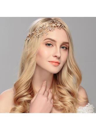 Gorgeous Alloy/Imitation Pearls Forehead Jewelry/Headbands (Sold in single piece)