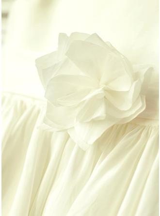 silver chiffon flower girl dresses