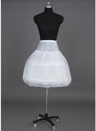 Petticoats Knee-length Tulle Netting/Taffeta Ball Gown Slip/Half Slip 3 Tiers Petticoats