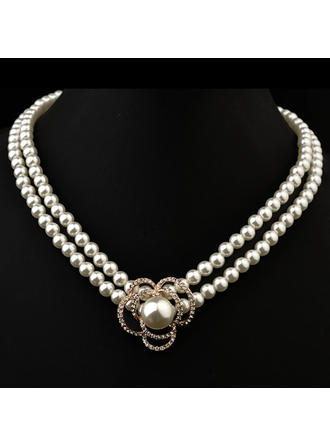 Necklaces Pearl Austrian Crystal Ladies' Gorgeous Wedding & Party Jewelry