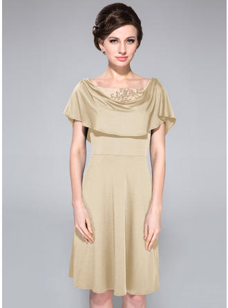 A-Line/Princess Jersey Sexy Cowl Neck Mother of the Bride Dresses