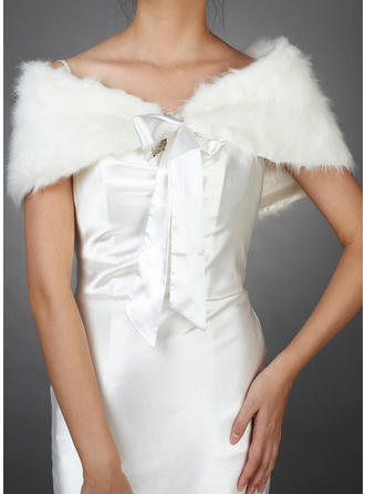 Wrap Wedding Faux Fur Sleeveless Other Colors Wraps